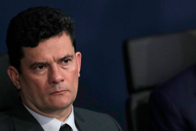 Brazil's Justice Minister Sergio Moro attends the presentation of the Brazil's new attorney general Augusto...