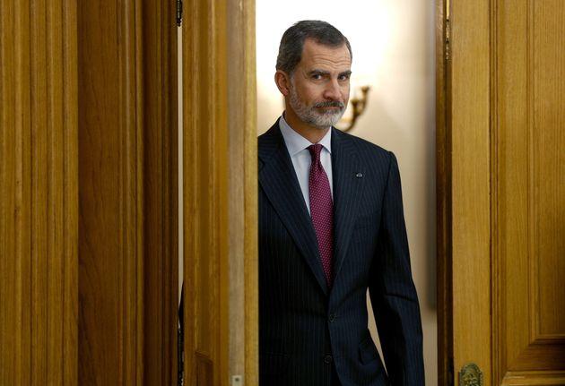 Felipe VI, este jueves, antes de la audiencia al presidente electo de Guatemala, Alejandro