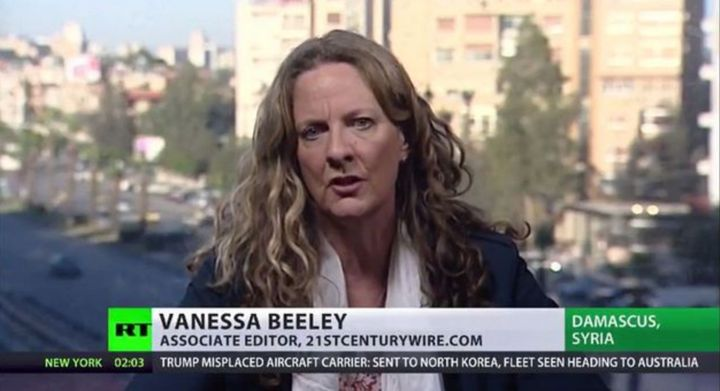 Vanessa Beeley is regularly invited to speak on Russian state media.