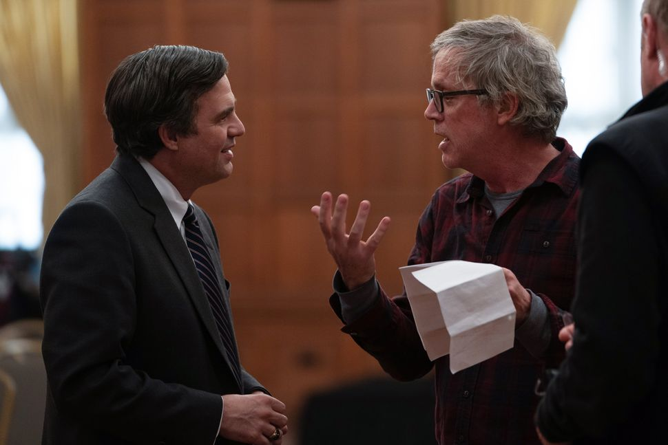 "Todd Haynes directs Mark Ruffalo in a scene from ""Dark Waters."""