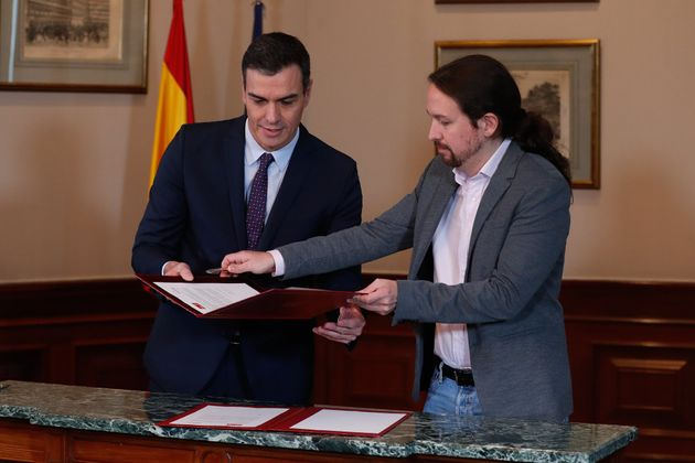 Sánchez e Iglesias sellan su