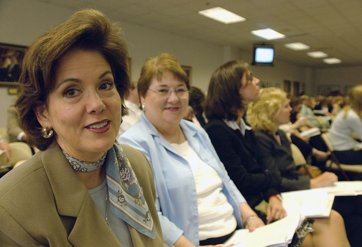 Dianne Hensley, pictured here in 2004, is a Republican elected to her judicial post in 2014. Though she declines to conduct s