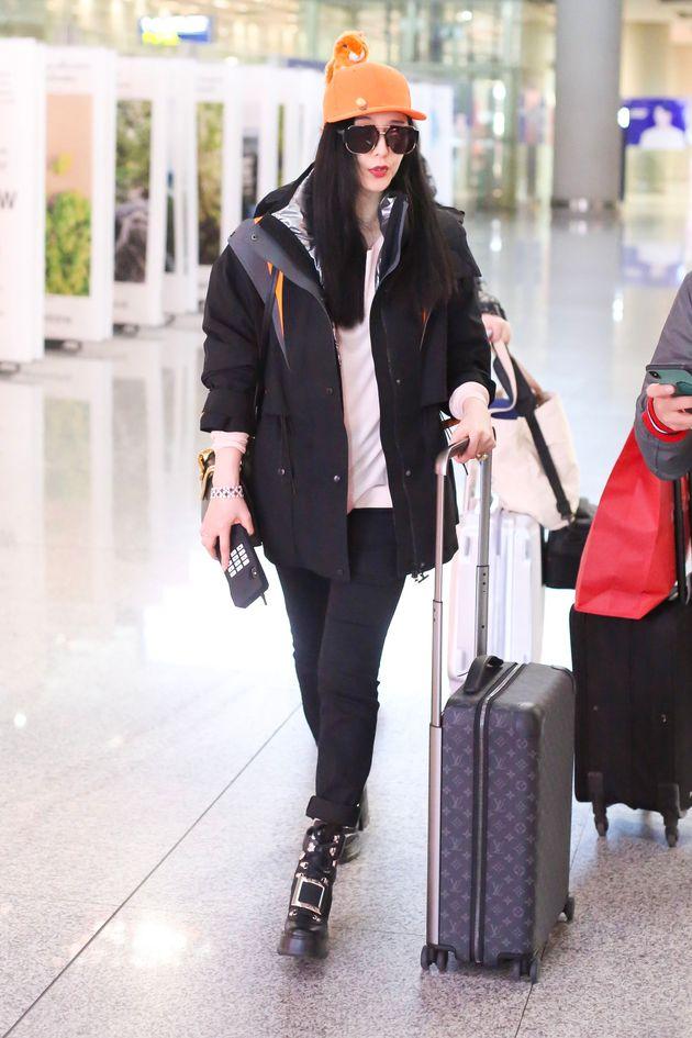 베이징 공항에서 포착된