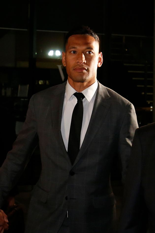 Israel Folau (pictured) and Rugby Australia reached a settlement this