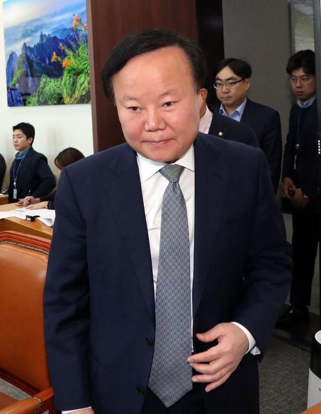 김재원 국회 예산결산특별위원장이 지난 11월 22일 서울 여의도 국회에서 열린 예산안등조정소위원회에 출석하고