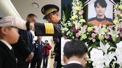 '독도 헬기 추락사고' 순직 소방대원 합동분향소 현장 (사진