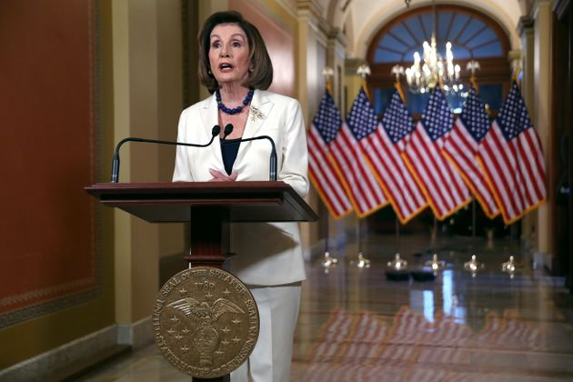 WASHINGTON, DC - DECEMBER 05: Speaker of the House Nancy Pelosi (D-CA) announced that the House will...