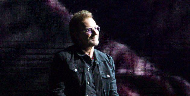 MELBOURNE, AUSTRALIA - NOVEMBER 15: Bono of U2 performs onstage at Marvel Stadium on November 15, 2019...