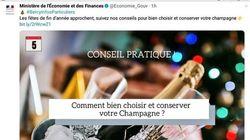 Ce tweet du ministère de l'Économie sur le champagne est vraiment arrivé au mauvais