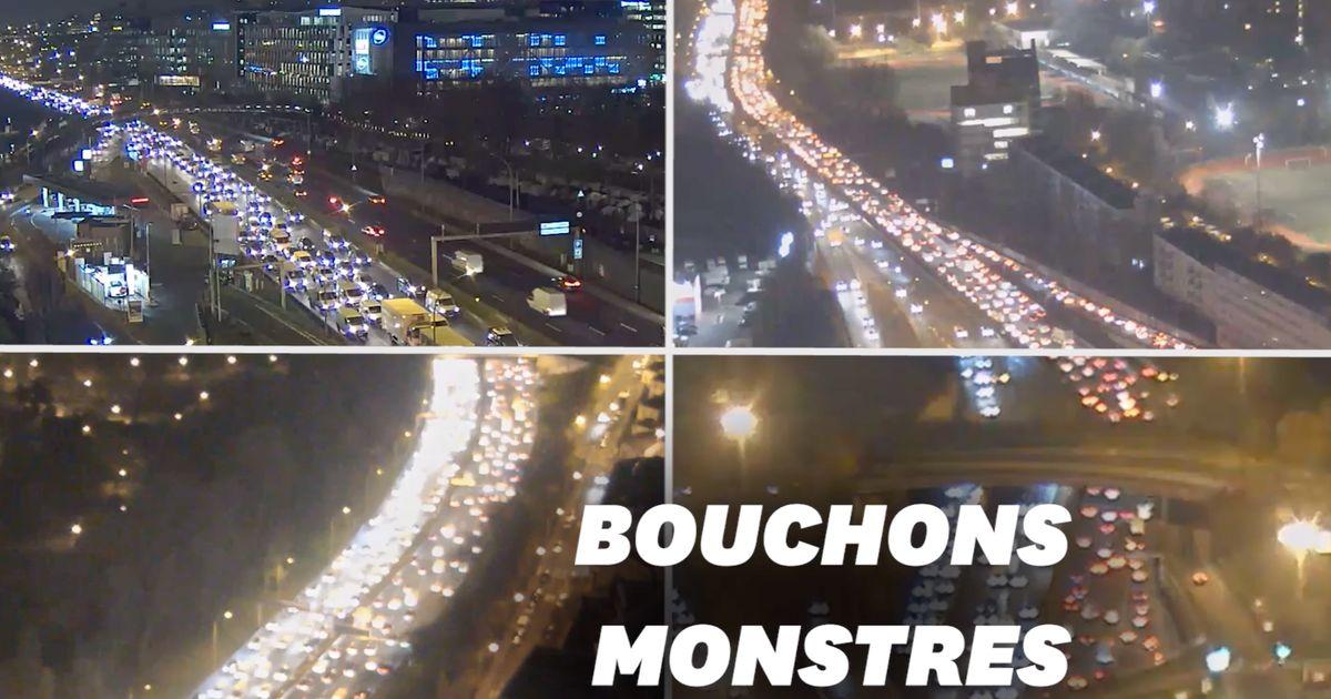 7 fois plus de bouchons à Paris vendredi par rapport à jeudi