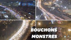 7 fois plus de bouchons à Paris vendredi par rapport à