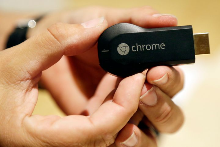 This July 24, 2013 file photo shows the Google Chromecast device in San Francisco.
