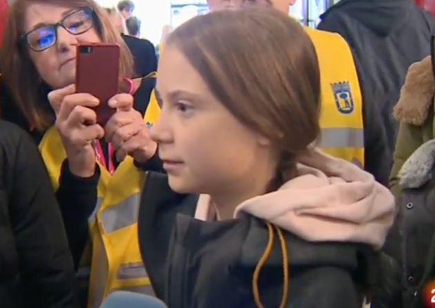 Greta Thunberg en la Zona Verde de la Cumbre del