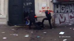 Cette vidéo montrant des policiers frapper un manifestant indigne