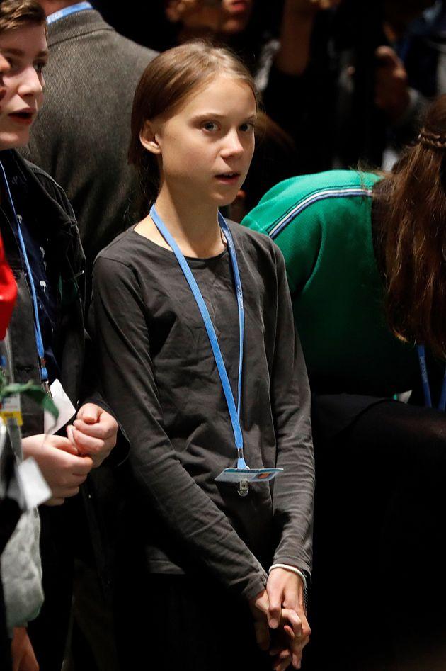 Llegada de Greta Thunberg a la cumbre del