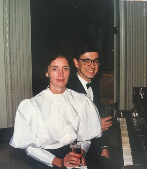Matthews with her husband, Jason (a veteran of the CIA himself), at the annual Marine Ball in Budapest, Hungary, in 1986.