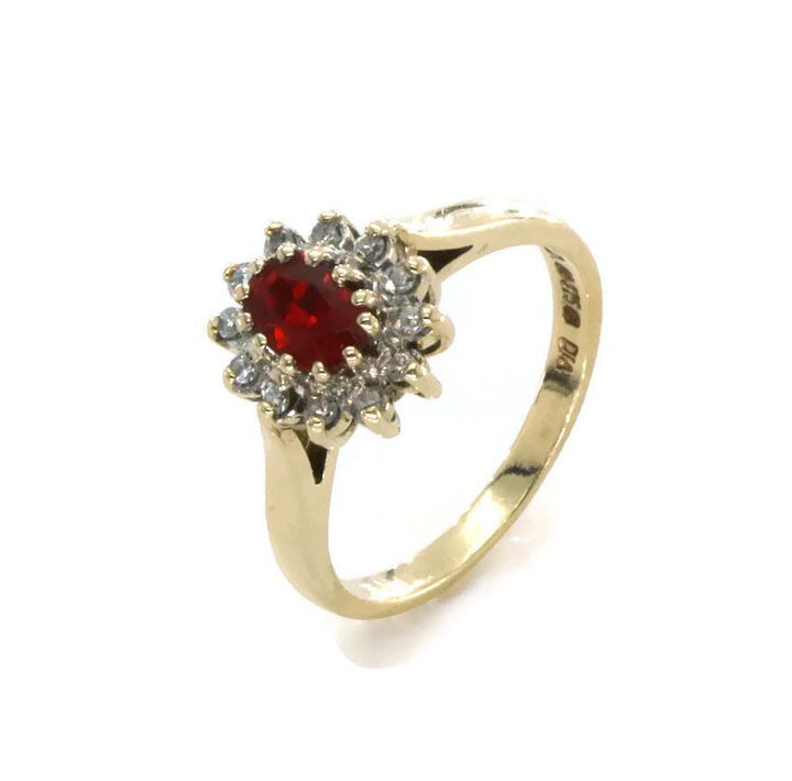 Gold Ruby Engagement Ring, Etsy