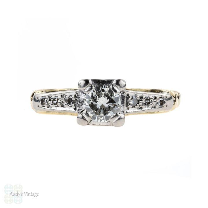 Vintage Diamond Engagement Ring, Etsy