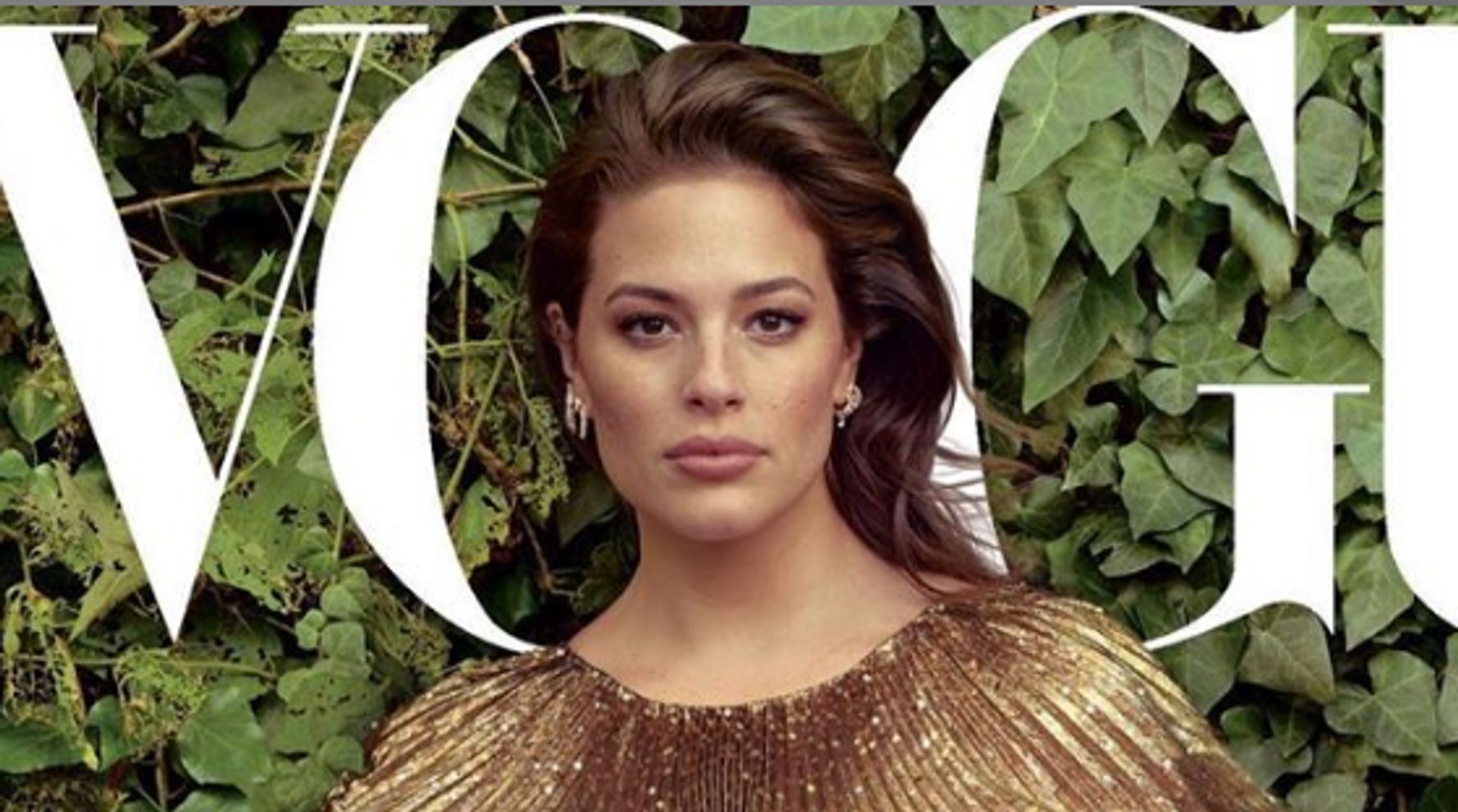 Westlake Legal Group 5dea72bc21000096ee34f3d6 Ashley Graham's Stunning Vogue CoverMakes Her Feel Like A 'True Pregnant Goddess'