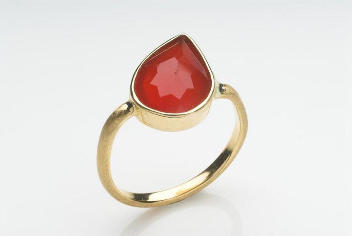 Carnelian 18 Ct Gold Ring