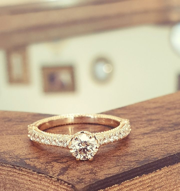 Antique Engagement Ring, Etsy