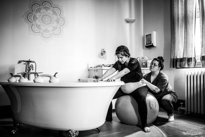 Camille Maheu accompagne une future maman