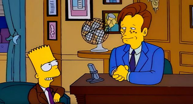 A year after Marge vs. The Monorail, Conan would return to The Simpsons, playing