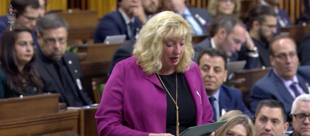 Conservative MP Marilyn Gladu delivers a tribute to victims of the 1989 massacre at Montreal's Ecole...