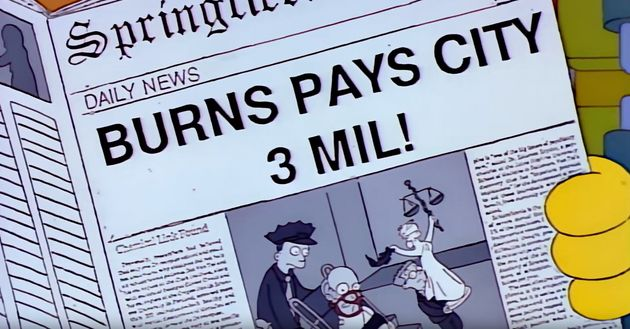 Mr Burns' appearance in court is also a reference to Silence Of The