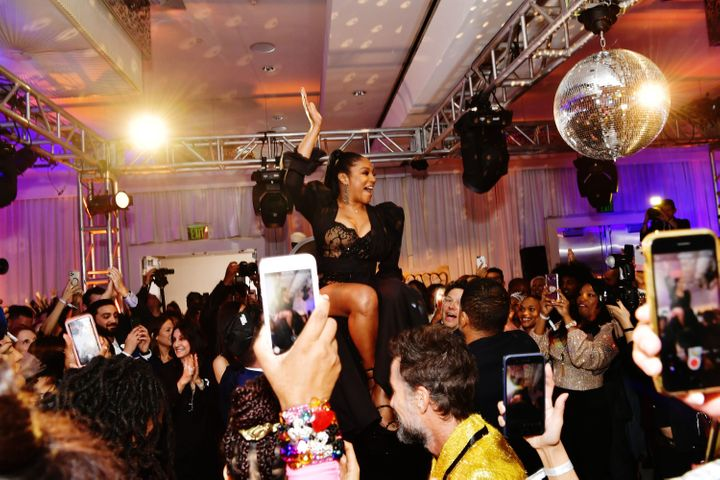 Tiffany Haddish celebrated her bat mitzvah party at SLS Hotel in Beverly Hills, California, on December 3, 2019.