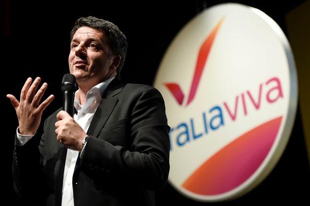 TEATRO DEI RAGAZZI, TURIN, ITALY - 2019/11/15: Matteo Renzi, leader of Italia Viva political party, speaks...