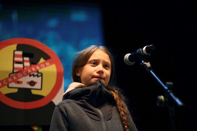 Greta Thunberg reaparace en el cierre de la Marcha del Clima en