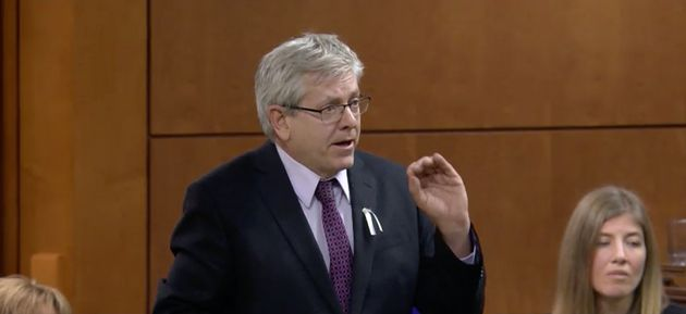 NDP MP Charlie Angus speaks in the House of Commons on Dec. 6,