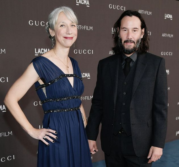 Alexandra Grant and Keanu Reeves hold hands at a Los  2019 LACMA 2019 Art + Film Gala in
