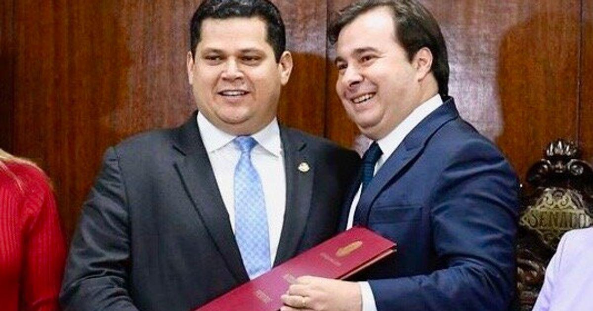 Maia e Alcolumbre articulam PEC da reeleição para presidência da Câmara e do Senado