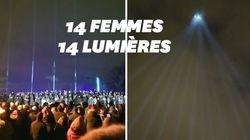 Montréal s'illumine pour commémorer les 30 ans d'un féminicide de