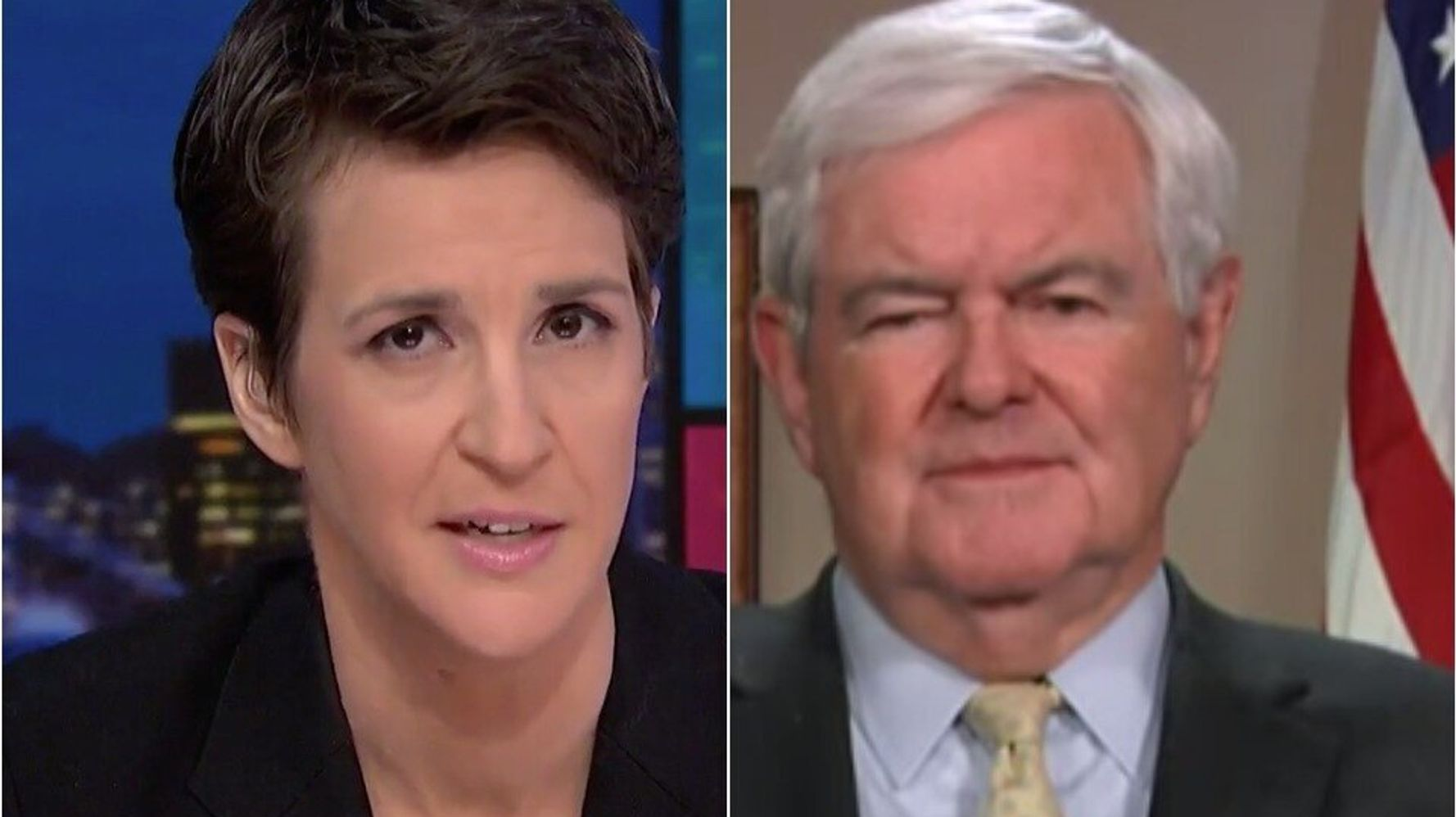 Maddow Nails Hypocrisy Of GOP, Newt Gingrich's New Argument Against Impeachment