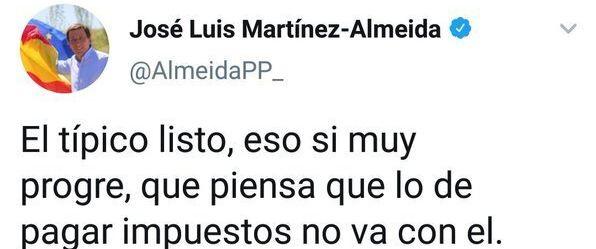 Tuit de Almeida contra