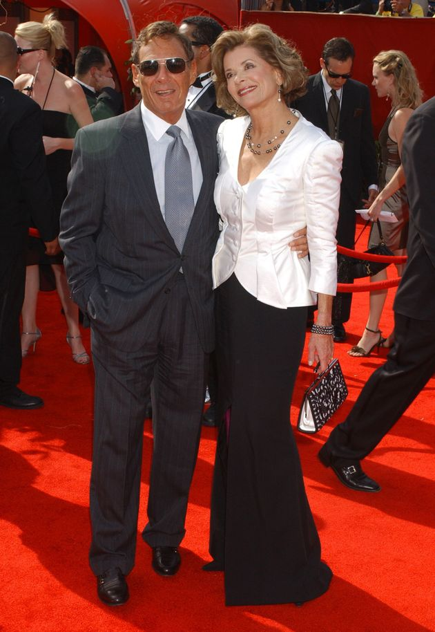 Ron Leibman and Jessica Walter at the Emmys in