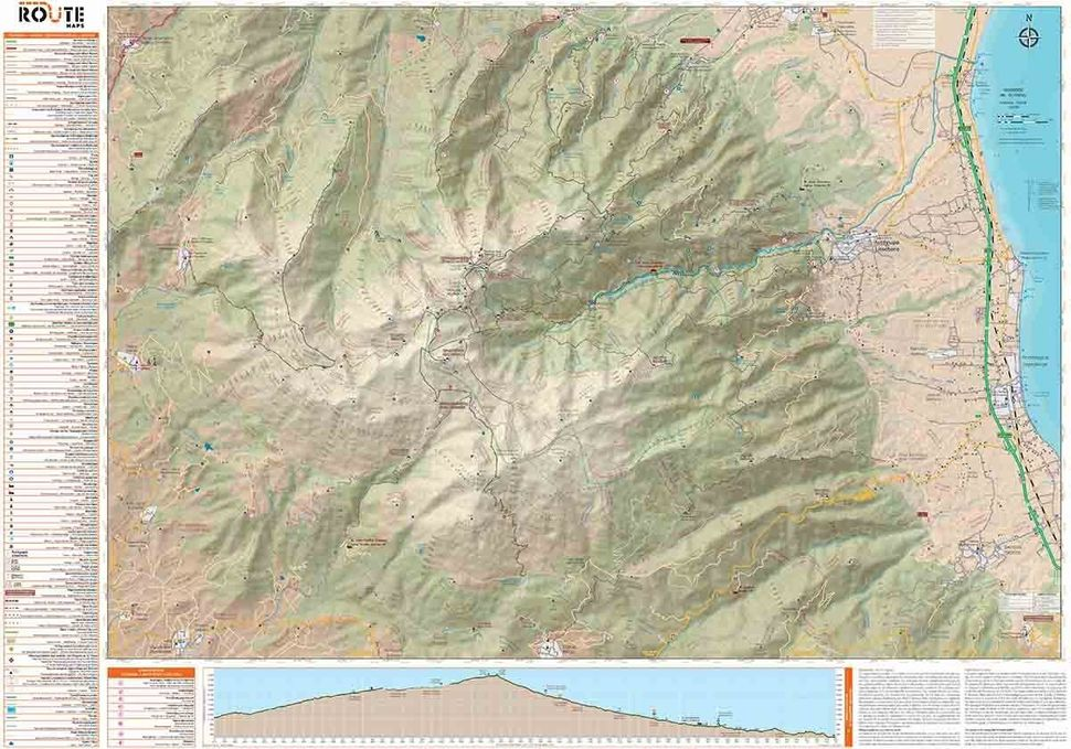 Πεζοπορικός χάρτης του Ολύμπου από τη ROUTE maps.