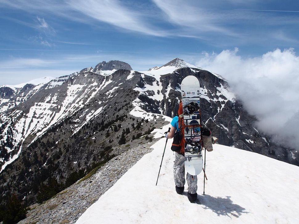 Χαρτογράφηση διαδρομών ορειβατικού σκι στον Όλυμπο.