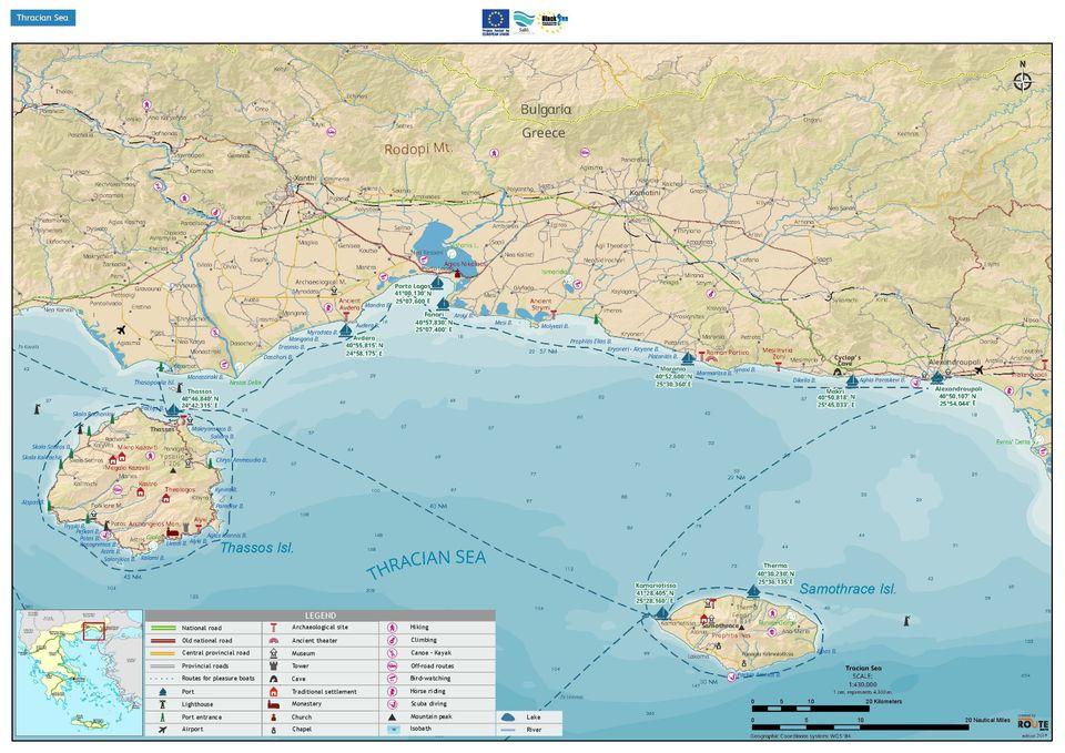Ναυτικός χάρτης θρακικού