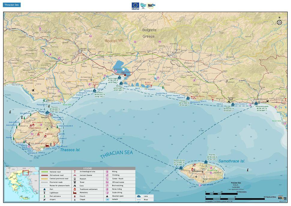 Ναυτικός χάρτης θρακικού πελάγους