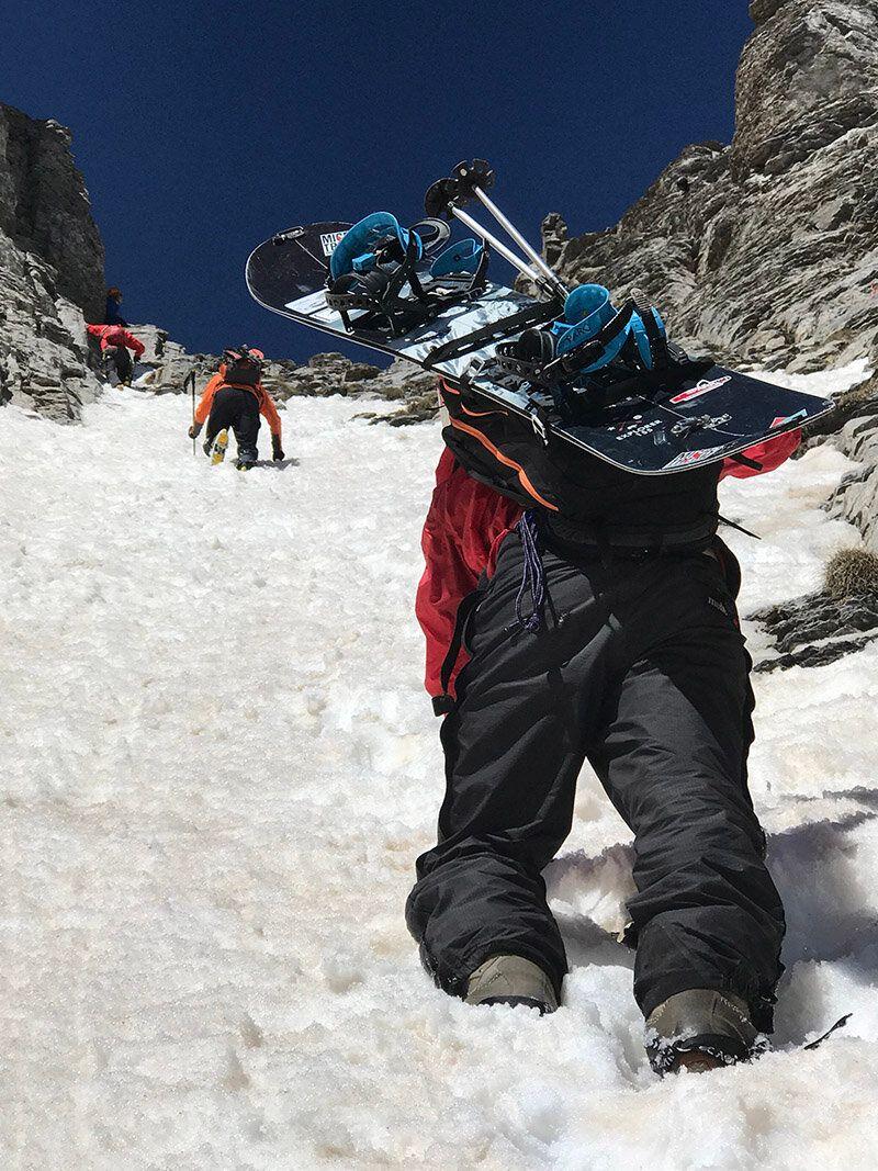 Λούκι Μύτικα, Όλυμπος. Χαρτογράφηση διαδρομών ορειβατικού σκι.
