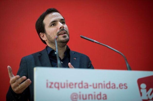 El coordinador federal de IU, Alberto Garzón. EFE/Luca
