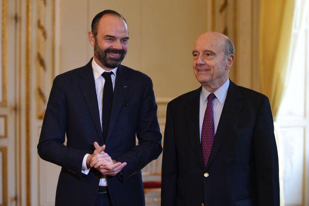 Edouard Philippe et Alain Juppé en février