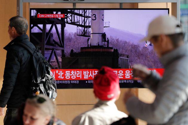 Annonce à la télé du test nord-coréen à la télé