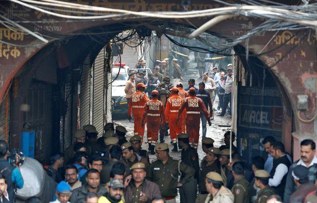 Horrific Fire Kills 43 At Delhi Handbag Factory