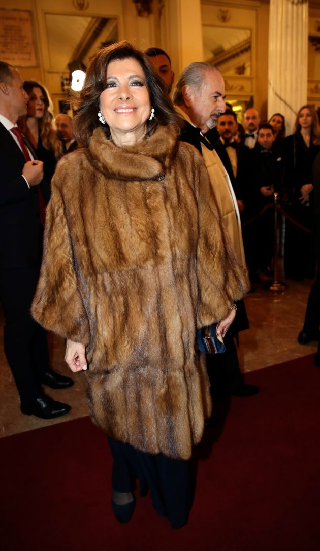 Italian Senate President Elisabetta Casellati arrives for the gala premiere of La Scala opera house,...