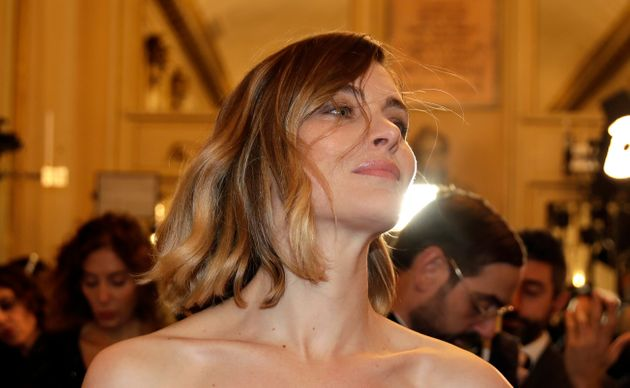 Actress Vittoria Puccini arrives for the gala premiere of La Scala opera house, in Milan, Italy, Saturday,...